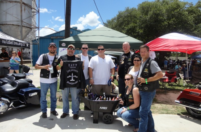 Katy Liquor Wagon Raffle at No Label Brewing Co. – June 2014 | San Jacinto High Rollers MC - Katy Chapter