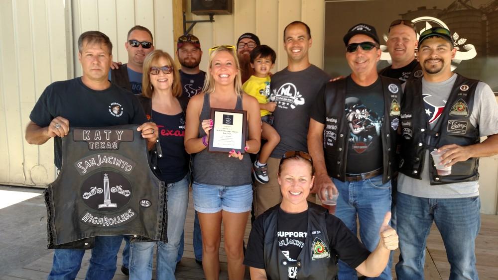 SJHRMC No Label Plaque Presentation – September 2015 | San Jacinto High Rollers MC - Katy Texas Chapter