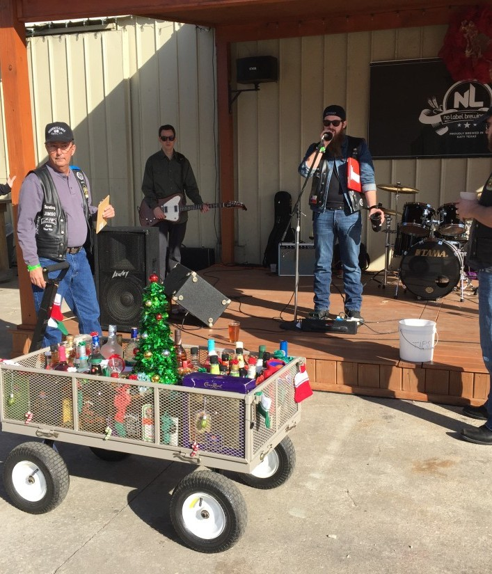 SJHRMC Holiday Liquor Wagon – December 2015 by San Jacinto High Rollers MC - Katy Texas Chapter